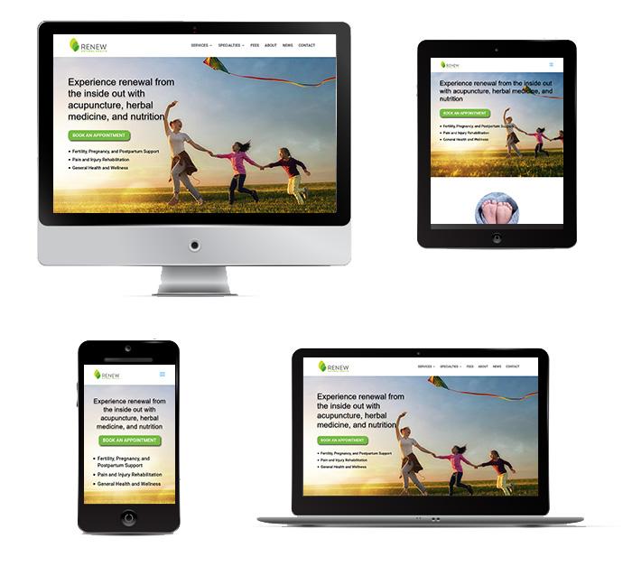 image of an acupuncture website in portfolio