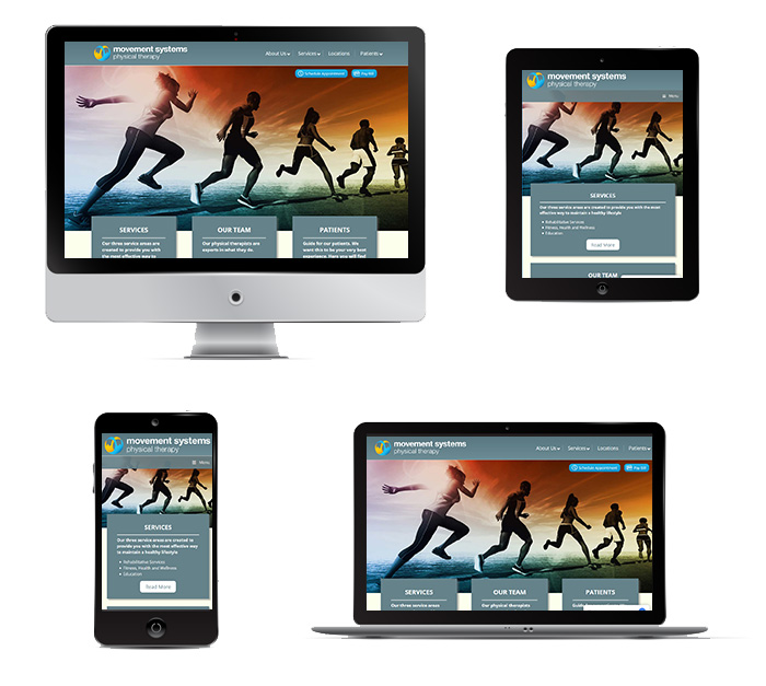 image of a physical therapy website in portfolio