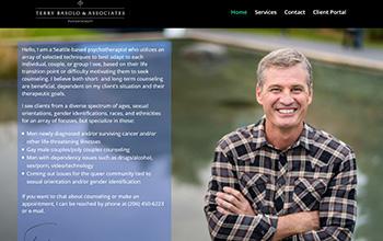 image of a psychotherapist website in portfolio