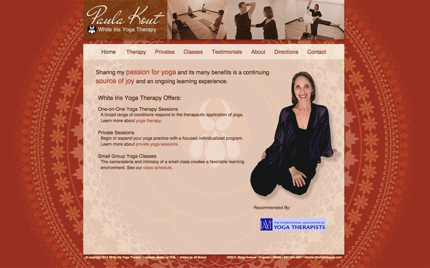 White Iris Yoga home page