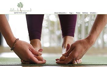 image of a yoga studio website in portfolio